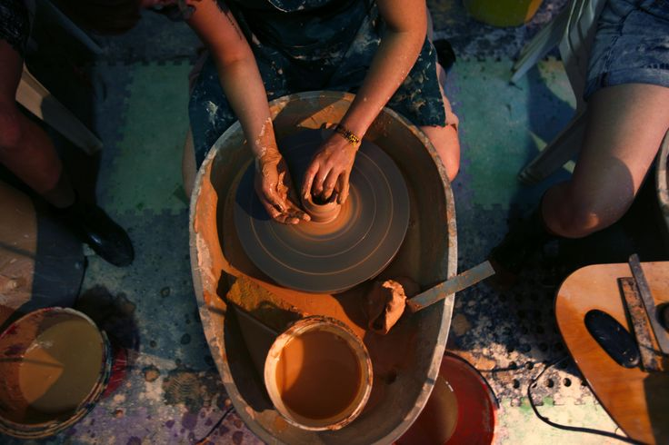 Pottery workshop as part of Artisania at Woodford Folk Festival 14/15.