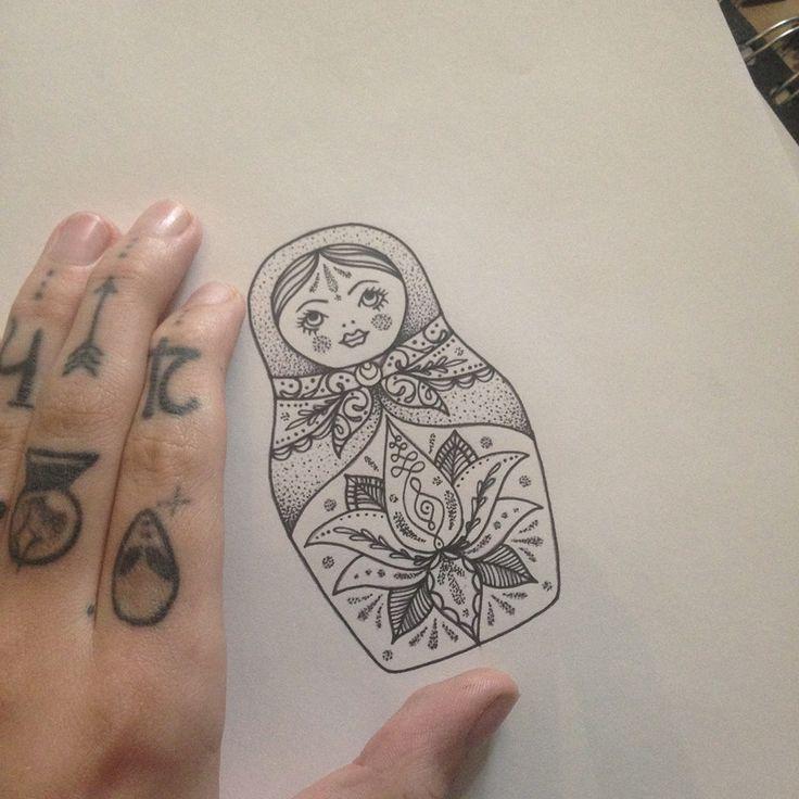 """Résultat de recherche d'images pour """"russian doll tattoo"""""""