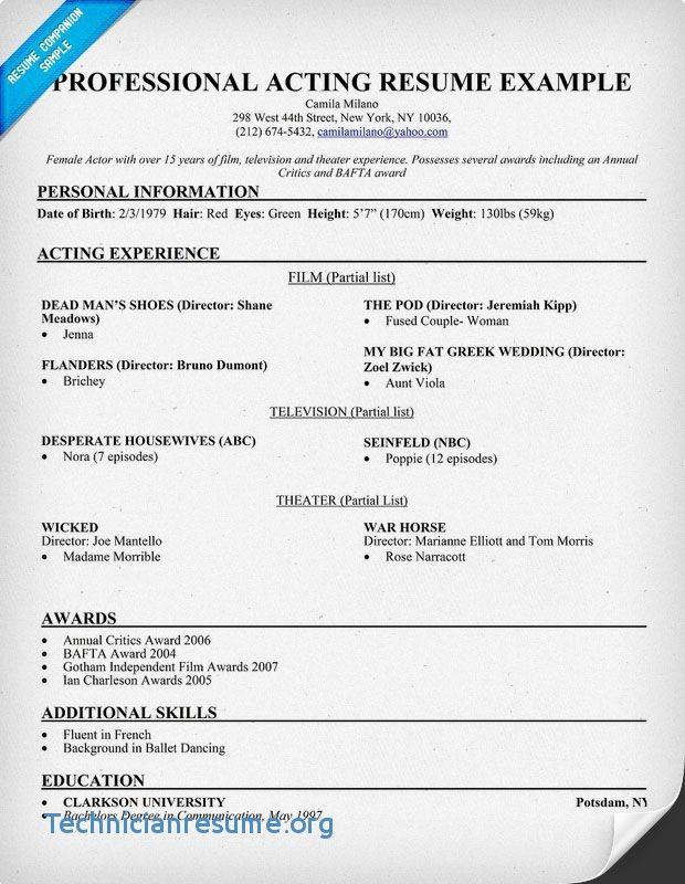 D Pharmacy Resume Format For Fresher 3-Resume Format Acting