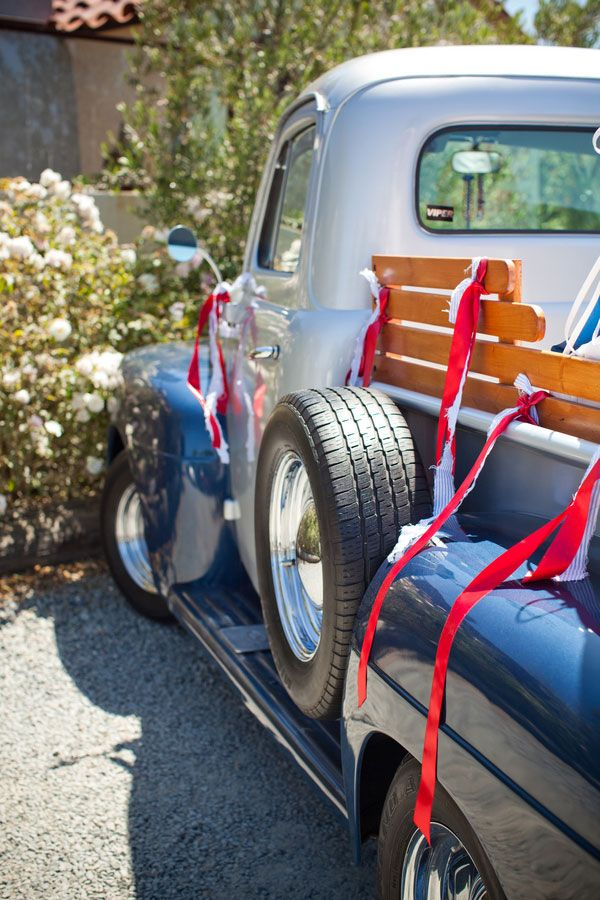 4th of July Inspired Americana Wedding 1951 Ford Pickup Truck | Siegel Thurston Photography on @StorybrdWedding via @aislesociety