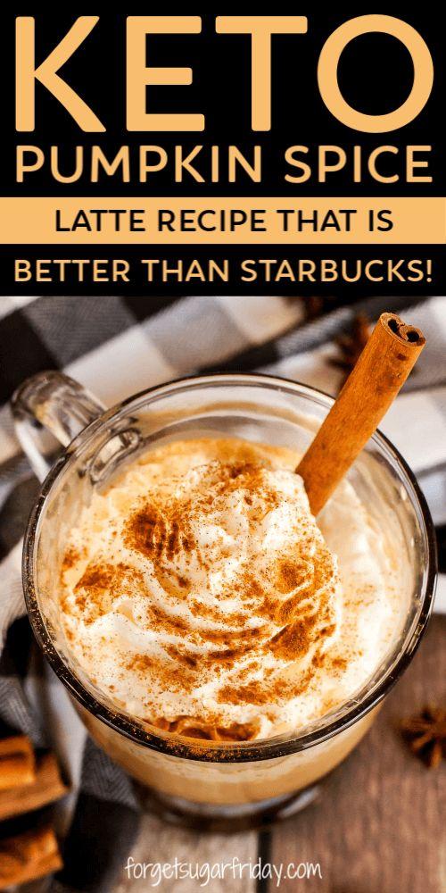 Fabelhafter Keto-Kürbis-Gewürz-Latte {Starbucks Copycat}!