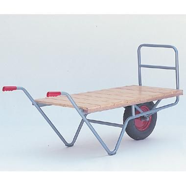 Strong tubular frame solid timber platform. Two sizes and two wheel option either pneumatic 400x100mm or cushion tyred 355x70mm both roller bearing. - See more at: https://actionhandling.co.uk/Our-Store/c/trucks/p/balanced-single-wheel-barrow#sthash.YWO0GFxm.dpuf