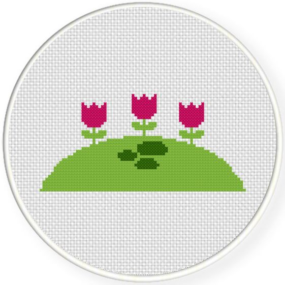 FREE for May 24th 2016 Only - Flower Hill Cross Stitch Pattern