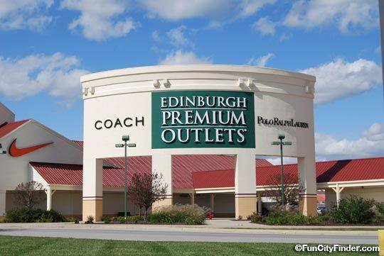 Photograph of the Edinburgh Premium Outlet Mall sign in Edinburgh, Indiana