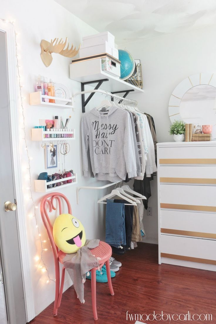 Love the idea of an open closet! And the nail polish holders are pretty snazzy.