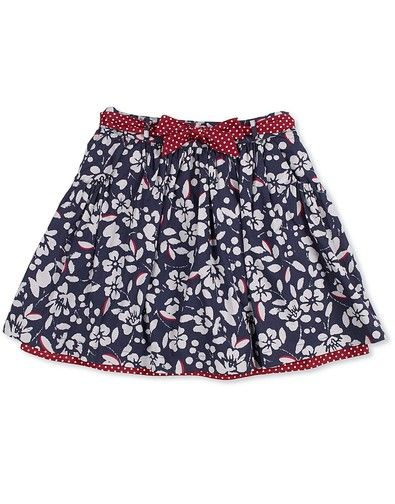 Girls Wisteria Skirt in Autumn Floral Print from Crew Clothing