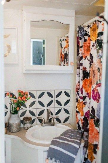 Wonderful Rv Bathroom Makeover Design Ideas 23