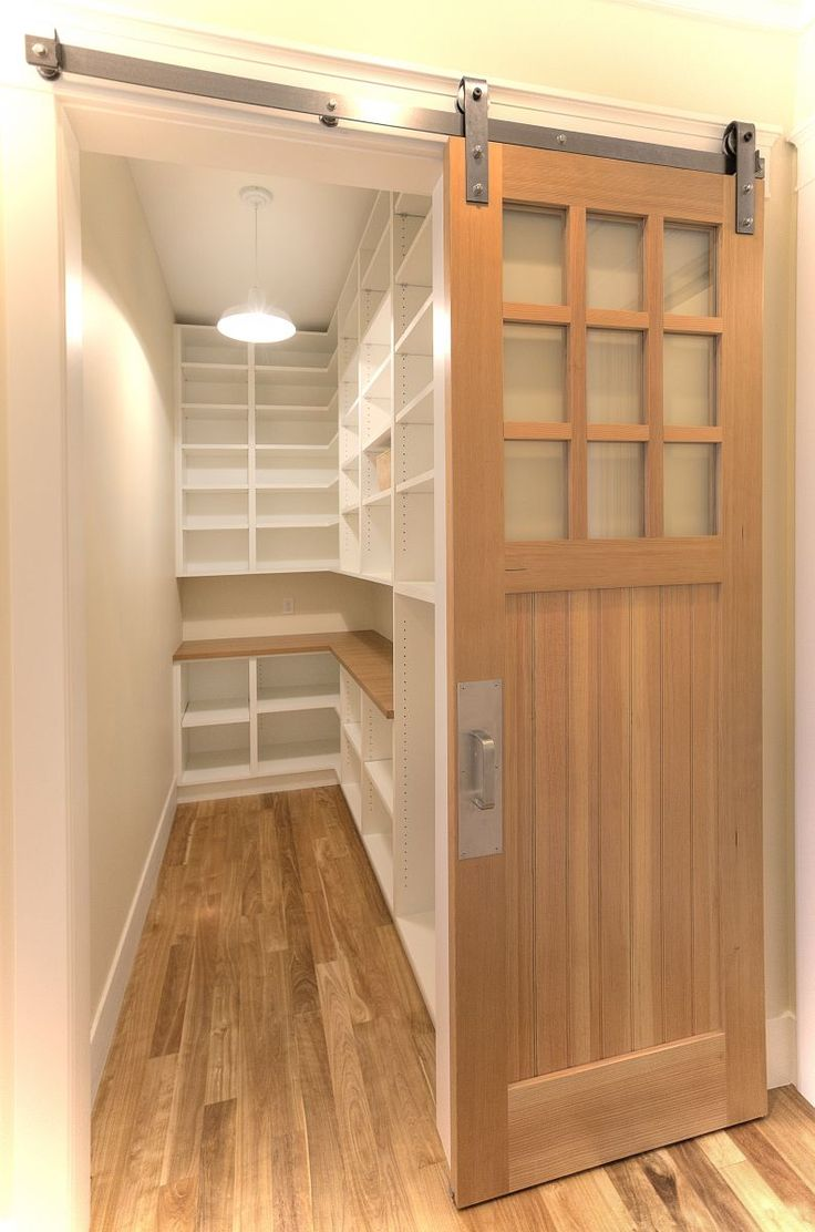 Like This Sliding Barn Door Opening To A Spacious Walk In Pantry More Designs