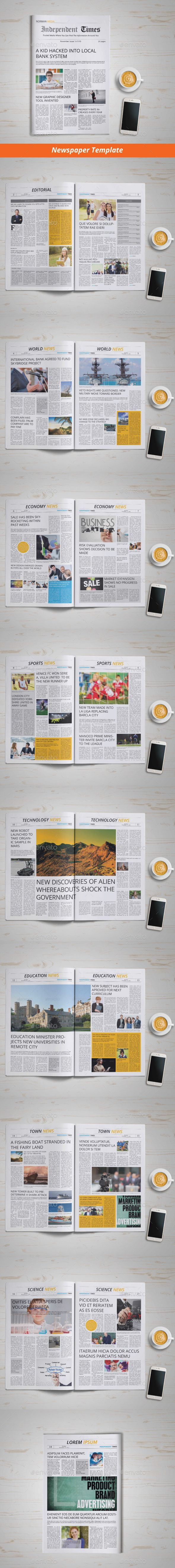 Newspaper Template | 18 Pages - Newsletters Print Templates Download here : https://graphicriver.net/item/newspaper-template-18-pages/13563800?s_rank=65&ref=Al-fatih