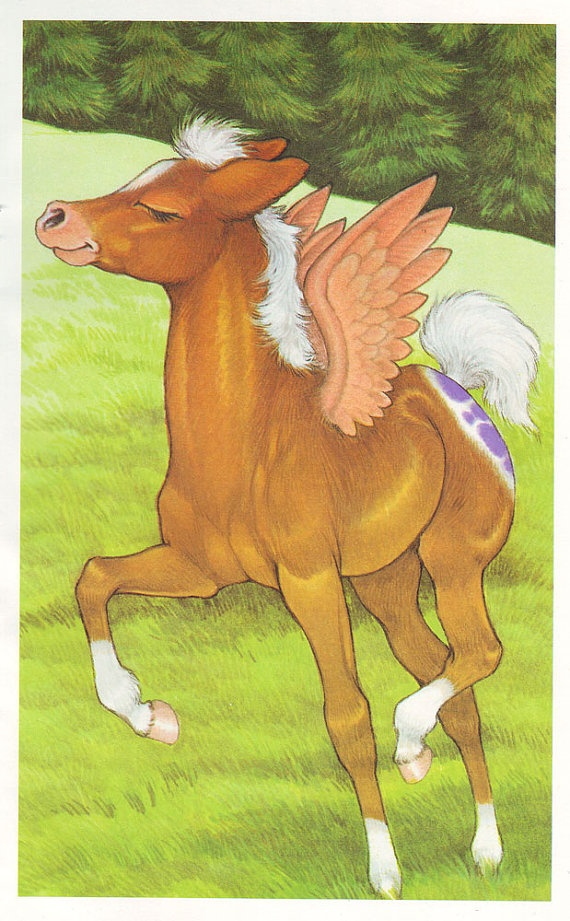 2015/03/24 Illustration Winged Horse by thevintagemode on Etsy (Robin James)
