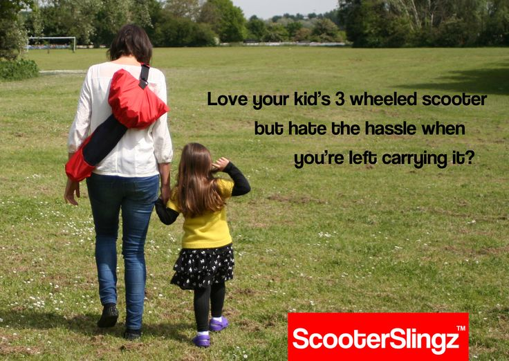 The convenience of the scooter, without the hassles when you're left carrying it!