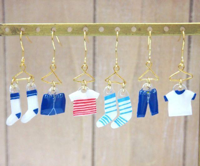 【再販】洗濯物ピアス/イヤリング