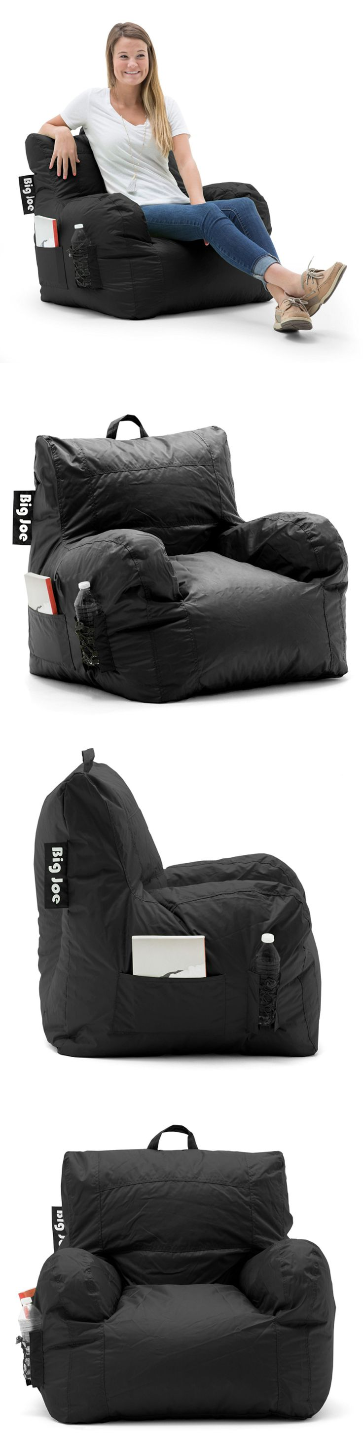 Bean Bags and Inflatables 48319: Big Joe Dorm Chair, Limo Black Bean Bag Lounge Seat, Kids Gaming Comfort Lounger -> BUY IT NOW ONLY: $68.56 on eBay!