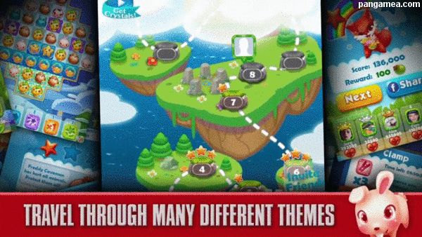 """FOREST MANIA  (FREE Match 3 Game) is the latest and newest in ACCUMULATIVE """"Match 3"""" puzzles! Swap and match many cute and cuddly forest animals to gain points. Collect as many animals as possible before you run out of moves! You also need to find those 3-Matches with the most AWESOME chain reactions. Be lost in hours of FUN as you try to travel through the hundreds of levels and different themes that await you. Help the forest creatures as they get rid of Freddy"""