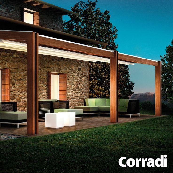 PERGOLA TWIN -je pýcha značky Corradi. Hoci je to drevená pergola, má skvelé hladké línie