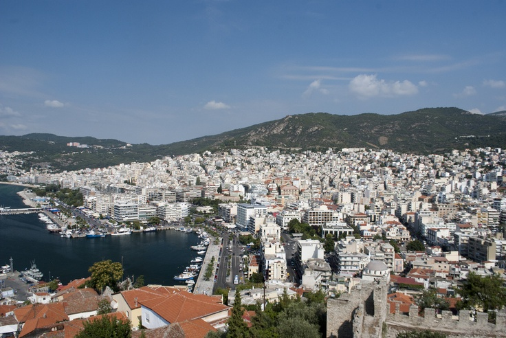 View from castle of Kavala