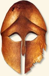 This is an example of the kind of helmet used by the Greeks during the Battle of Marathon when the Persian army tried to invade Greek land in 490 BC during the Classical Period.