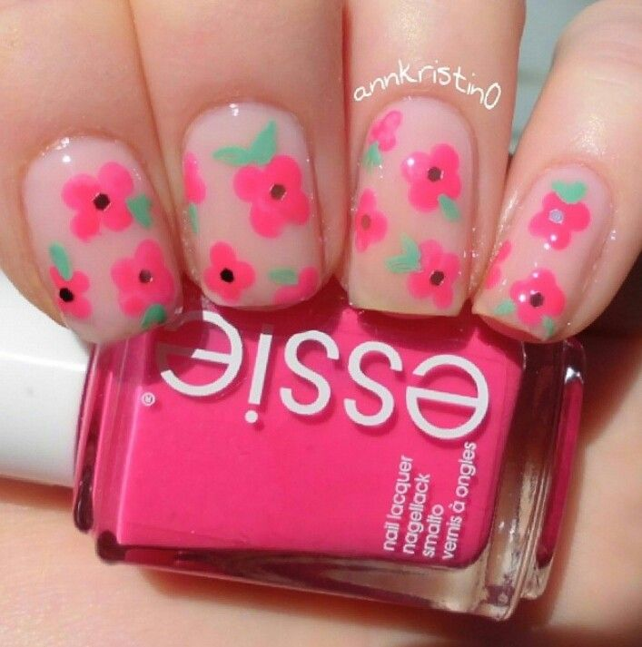 pink flowers. essie sugar daddy and secret story.