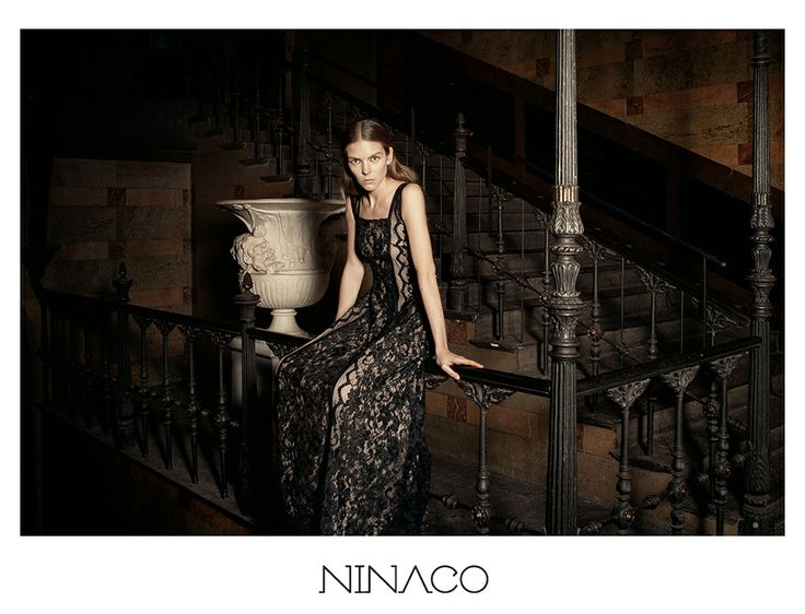 black lace dress couture #ninaco #design #fashion