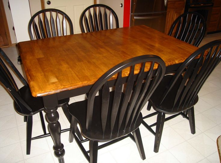 before and after refinished kitchen tables google search craft projects i may want to do. Black Bedroom Furniture Sets. Home Design Ideas