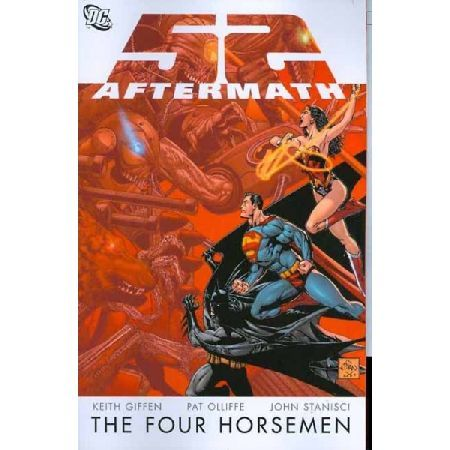 52 Aftermath The Four Horsemen TP Written by Keith Giffen Art by Pat Olliffe  John Stanisci Cover by Ethan Van Sciver The unstoppable villains of the groundbreaking weekly series 52 rise again in this volume collecting the 6-issue mi http://www.MightGet.com/january-2017-13/52-aftermath-the-four-horsemen-tp.asp