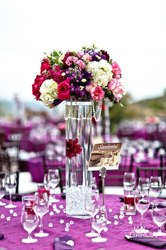 purple centerpiece - maybe with more pink?
