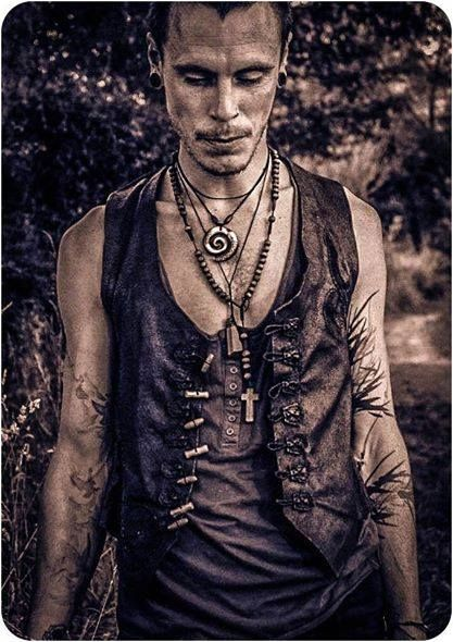 Leather is what ever wild man needs...   Vest is handmade by Leather Creations