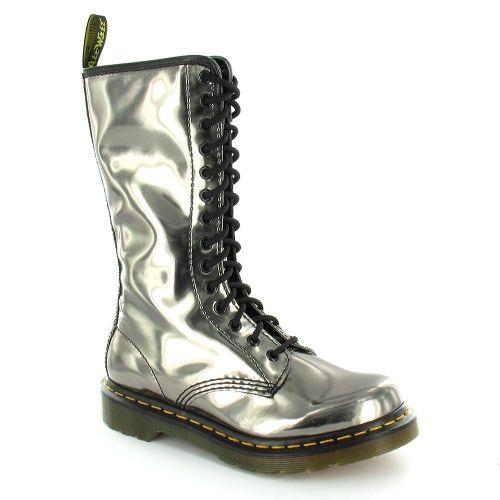 Dr Martens 1B99 Womens Koram Flash Mid-calf 14-Eyelet Zip Boots - Pewter Silver