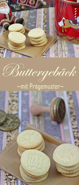 Anzeige: Rezept leckeres Buttergepäck - Schnelle Plätzchen für Weihnachten, verschönert mit einem Stempelset zum Prägen.