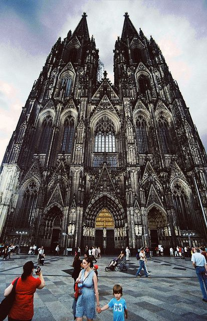 Cologne Cathedral. We climbed all 509 stone steps to get to the top and see the view. I was about to die afterwards but it was cool.
