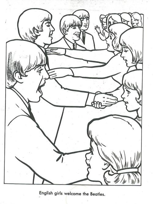 the beatles coloring book - Beatles Coloring Book