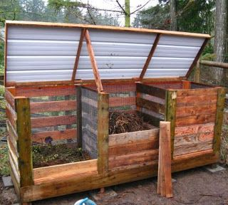 Ive always wanted to make compost, at my last house i tried doing it wiht a trash can, it came out horribly, no a 30 gallon trashcan of soggy grass clippings is sitting in the garbage can room over at the old house. this seems pretty cool How To Build The Ultimate Compost Bin DIY |Easy Homesteading
