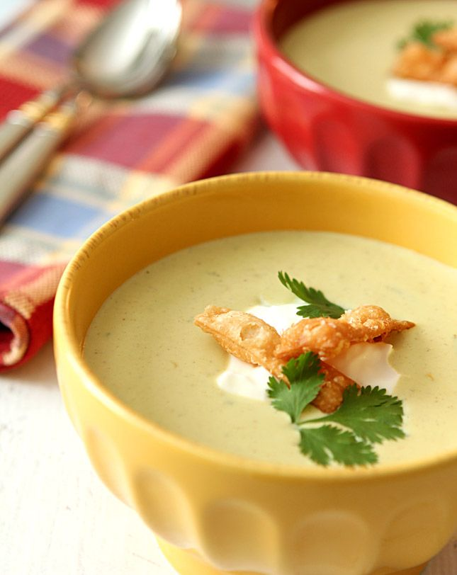 Roasted Poblano Pepper and Corn Soup - Creative Culinary  - the site also includes a nice chili heat index for choosing the right chills to match your taste for hot food