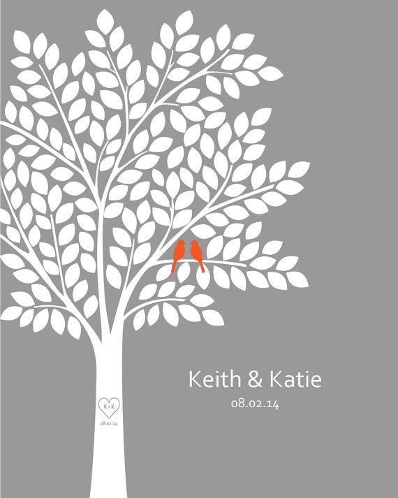 Wedding Guestbook Alternative/ Bridal Shower by DesignCreatives