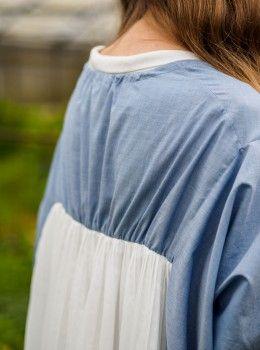 Issue #2 - D-due LAB: Yellow Mountain | Back Pleats Blouse #dduelab #pleats #blouse #cotton