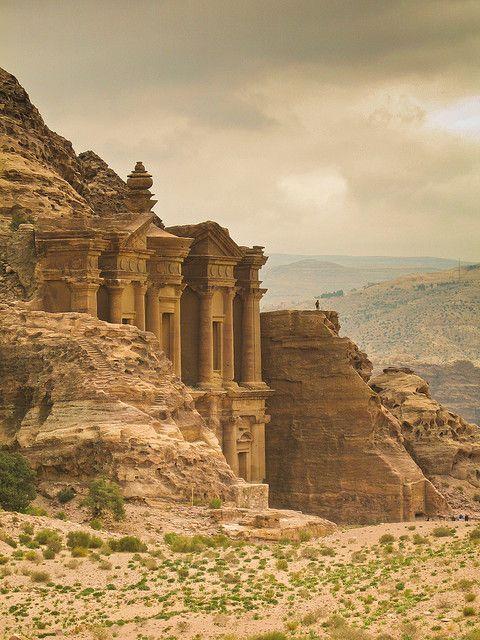 Glimpse of the monastery in Petra, Jordan (by lordsheppy)