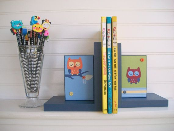 Bookends for Children. Owl Bookends . Owls   by RessieLillian