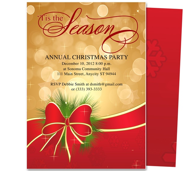 28 best Christmas party invitations images – Annual Holiday Party Invitation Template