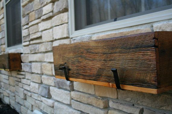 "YOUR Custom Made Reclaimed and Recycled Barn Wood 24"" Long Barn Wood Window Box, Center Piece or Planter for Outdoors"