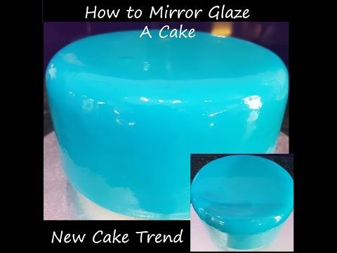 How To Mirror Glaze a Cake - YouTube
