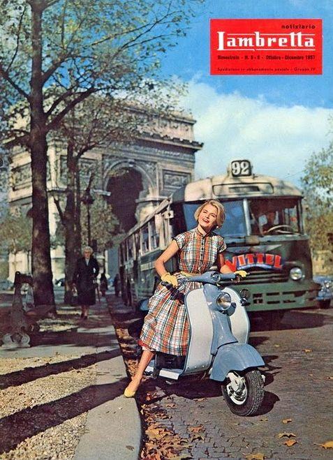 Lambretta scooter retro