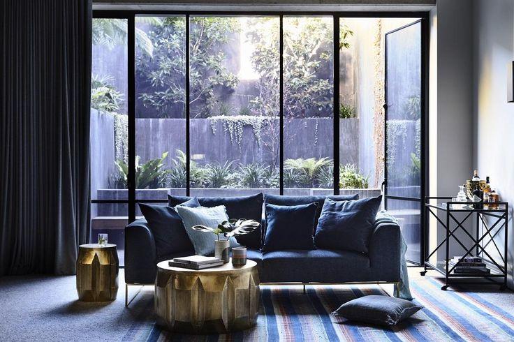 GlobeWest Vittoria Langham Sofa Styling: Julia Green | Photgraphy: Derek Swalwell #globewest #jeweltones #interior #decor #luxe #classic