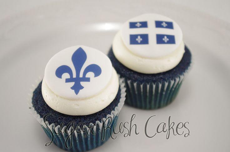 Petits Gâteaux Velours bleu pour la St-Jean 2013. Livraison sans frais pour Montreal!