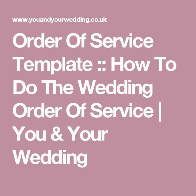 Mer enn 25 bra ideer om Order of service template på Pinterest - order of service template free