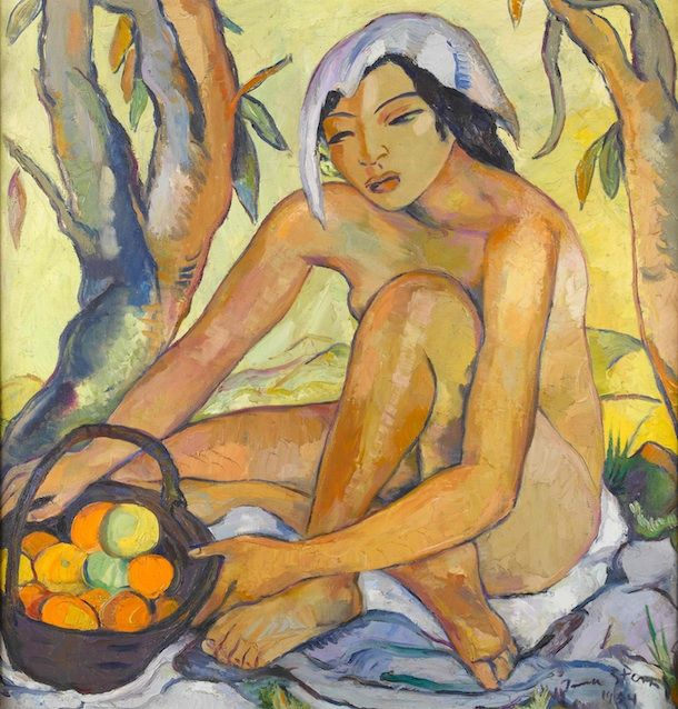 Irma Stern - Seated Nude with Oranges