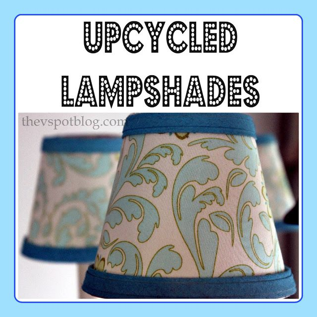 The 25 best lampshade chandelier ideas on pinterest chandelier upcycling boring lampshades with fabric spray paint and a glue gun aloadofball Gallery