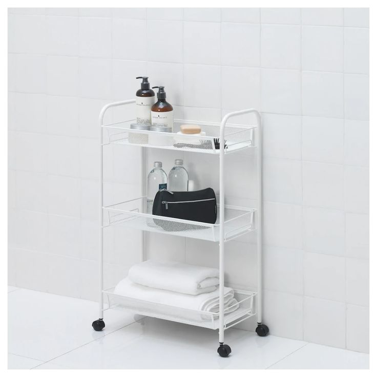 HORNAVAN Trolley - white 26x48x77 cm | Ikea, Bathroom cart ...