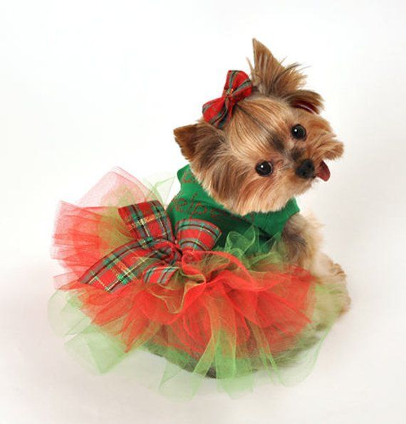 Santa S Helper Christmas Tutu Dog Dress For Small To Large Dogs