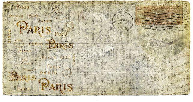 Postcard, Letters, Old, Vintage