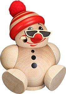 Seiffener Volkskunst Kugelräucherfigur -Cool Man- mit Mütze